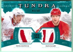 2011-12 Artifacts Tundra Tandems Pavel Datsyuk/Dan Cleary dual patch #/50
