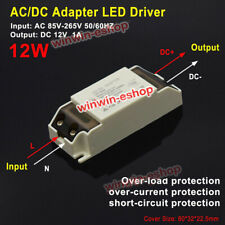 Ac Dc Ac 110v 220v 230v To 12v 1a 12w Converter Led Driver Adapter Transformer