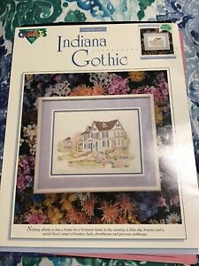 Victorian House - Indiana Gothic Cross Stitch Chart Pattern NEW FREE SHIPPING