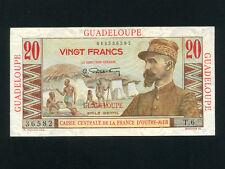 Guadeloupe:P-33,20 Francs,1947 * French Rule * E. Gentil * UNC *
