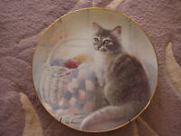 """QUIET MEMORY"" BY RUANE MANNING KITTEN COUSINS THE DANBURY MINT PLATE, 8"" DIA"