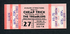 1980 Cheap Trick Unused Full Concert Ticket Fresno CA I Want You To Want Me