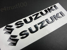 Black Emblem Decal For Suzuki Fairing Fuel Gas Tank Custom Badge Stickers Motor
