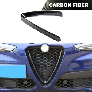 Fit for Alfa Romeo Stelvio 2017-2018 Front Grill Grille Frame Cover Carbon Fiber