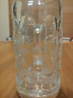 Pschorr Brau Munchen 1 Liter Dimpled Heavy Beer Stein Glass Mug