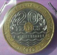 20 francs jeux méditerranéens 1993 : SUP : pièce de monnaie française N2