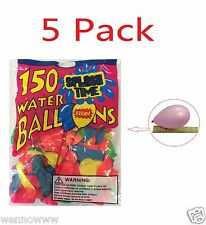 5 Pack - 150pcs Water Bomb Balloons Dart Balloon  Launcher Fights Toy Party