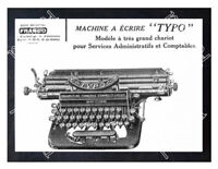 Historic Typo Typewriter machine Advertising Postcard