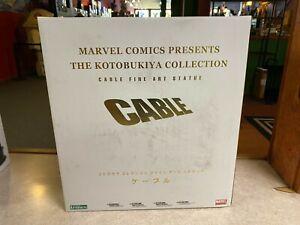 "2009 Kotobukiya Marvel CABLE FINE ART STATUE 13"" Statue #2352 w/ Box"