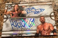 2018 TOPPS WWE LEGENDS TRIPLE H & SHAWN MICHAELS AUTH DUAL AUTOGRAPHS SN06/10 DX