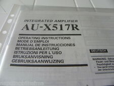 Sansui Au-x517r Owner's Manual Operating Instructions istruzioni