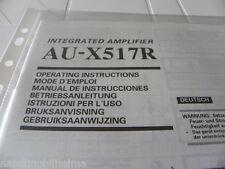 Sansui AU-X517R Owner's Manual  Operating Instructions Istruzioni New