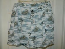 """Exclusive """"TOMMY BAHAMA"""" Men's 3 pocket Swin Trunks in excellent Condition Sz L"""