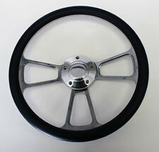 68 69 Charger Dart Coronet Polara Navy Blue and Billet Steering Wheel 14""