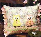 PATTERN - Two Hoots - fun and easy owl applique cushion PATTERN