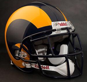 MARSHALL FAULK LOS ANGELES RAMS Schutt EGOP Football Helmet FACEMASK - NAVY BLUE