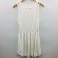 Victorias Secret Womens Size XS Sleeveless A Line Dress Lace Panel White 699