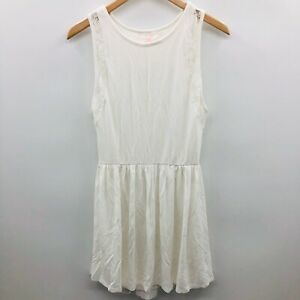 Victorias Secret Womens Size XS Sleeveless A Line Dress Lace Panel White 699