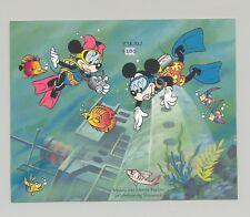 Palau #341 Disney, Scuba, Fish 1v S/S Imperf Chromalin Proof
