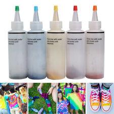 5 Bouteilles Tie Dye Kit COULEUR TEINTURE TEXTILE TISSU VETEMENT + 40X BANDE
