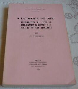 A LA DROITE DE DIEU PAR M. GOURGUES ED GABALDA 1978 TBE