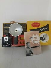 Vintage Brownie Hawkeye Flash Outfit Camera In Original Box