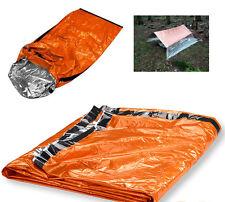 "Emergency Aluminized Sleeping Bag Camping Outdoor Survival 84""x36"" Tarp shelter"