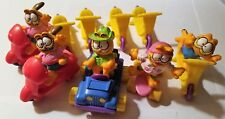 McDONALDS 1989 HAPPY MEAL GARFIELD - SKATEBOARD, 4-WHEELER, SCOOTER, MOTOR CYCLE