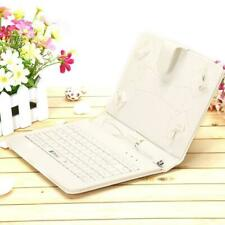 """IRULU 7"""" PU Leather Micro USB Keyboard Case Stand Cover Tablet (White)"""