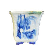 ChineseHandmade Ceramic Blue Graphic Plantercs707-11