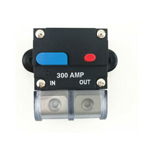 300A AMP Audio Circuit Breaker Fuse Car Boat Manual Reset Switch Accessories