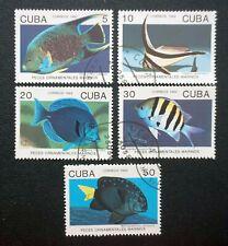 6CUBA   Sc# 3417-3421  FISH Marine Life ocean sea fishes CPL SET of 5 1992 used