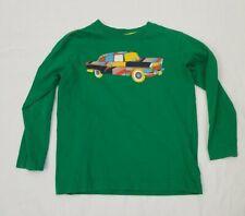 Hanna Andersson Green Long Sleeve Car T-Shirt 110