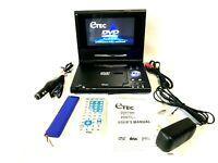 "eTEC 7"" Portable DVD Player PDV7900 Bundle Remote Adaptors 2 Batteries & Manual"