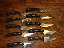 lot of 10 SCHRADE OLDTIMER SHARPFINGER deer hunting knife 152ot