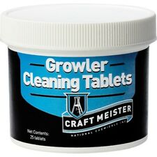 Craft Meister Growler Cleaning Tabs - 25 Count - Beer Brewing Cleans on its own!