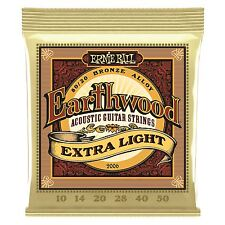 Ernie Ball Earthwood Bronze Extra lightacoustic Cordes Guitare-Gauge 10-50