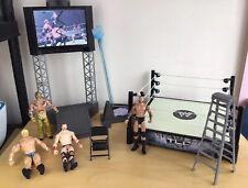 ️WWE Wrestling Flex Force High Flyin Fury Playset, TLC Ring Ray Mysterio Figures