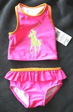 RALPH LAUREN PINK GIRL SWIMSUIT (BAÑADOR NIÑA ROSA). S 9M, NEW w TAGS, RRP 40€!