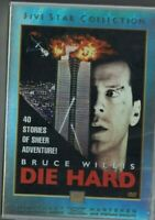 2 DISCS DVD DIE HARD BRUCE WILLIS FIVE STAR COLLECTION USED