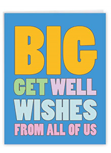 NobleWorks - Big Funny Group Get Well Card 8.5 x 11 Inch - Jumbo Feel Better All