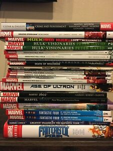 Marvel TPB Hardcover LOT Fantastic Four Hickman Wolverine Spiderman Panther Hulk