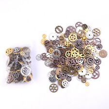 Mixed 30g Steampunk Gear Charms mix tone Connectors Jewelry Making