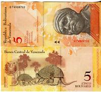 Venezuela / Venezuela 5 Bolivares Banknoten 2011 UNC.