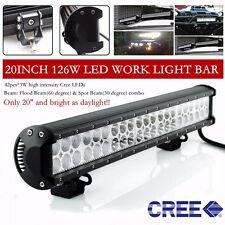 20 inch Cree Led Light Bar Flood Spot Beam Offroad 4WD ATV SUV Truck Boat Jeep