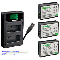 Kastar Battery LZD2 Charger for Canon LP-E10 LCE10N Canon EOS 2000D 3000D Camera