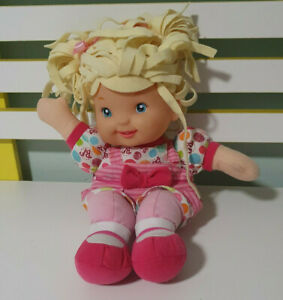 Goldberger Lil Talker Doll, Blonde Hair, Blue Eyes, Washing Instructions On Tag.