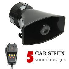 12v7 ton police sonore voiture sirène corne haut-parleurs sonorisation alarme