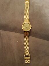 Mens Citizen Water Resistant 38mm Gold Adjustable Watch