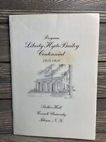 Vintage Program Liberty Hide Bailey Centennial Stamp Issue Ceremony 1958